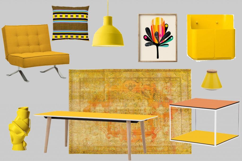 Interior-Gelb-Kollage