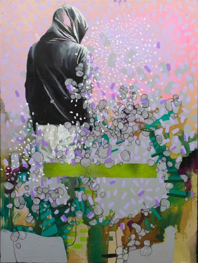 Julia-Benz-_-Bees-Knees-Acryl-Tusche-auf-Holz-80-x-60-cm-2014-ohne-Rahmen-web-650x865