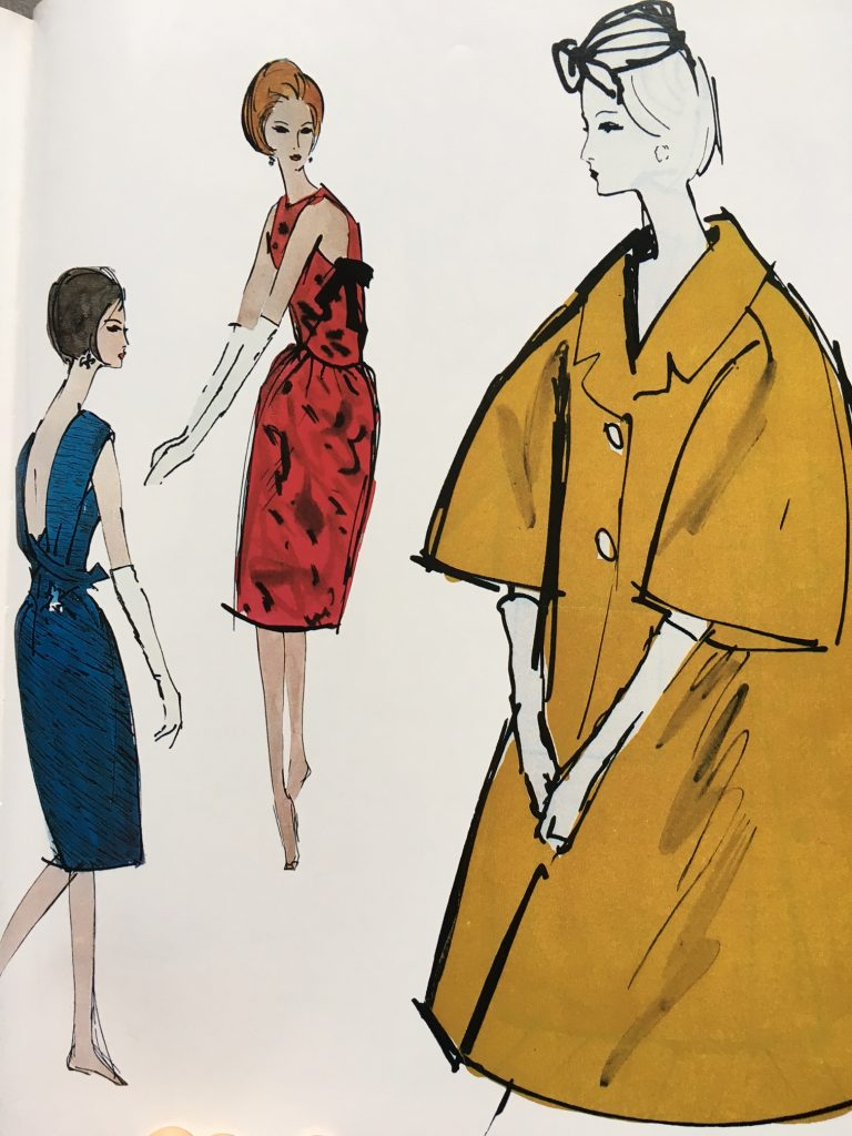 Modezeichnungen in Vogue