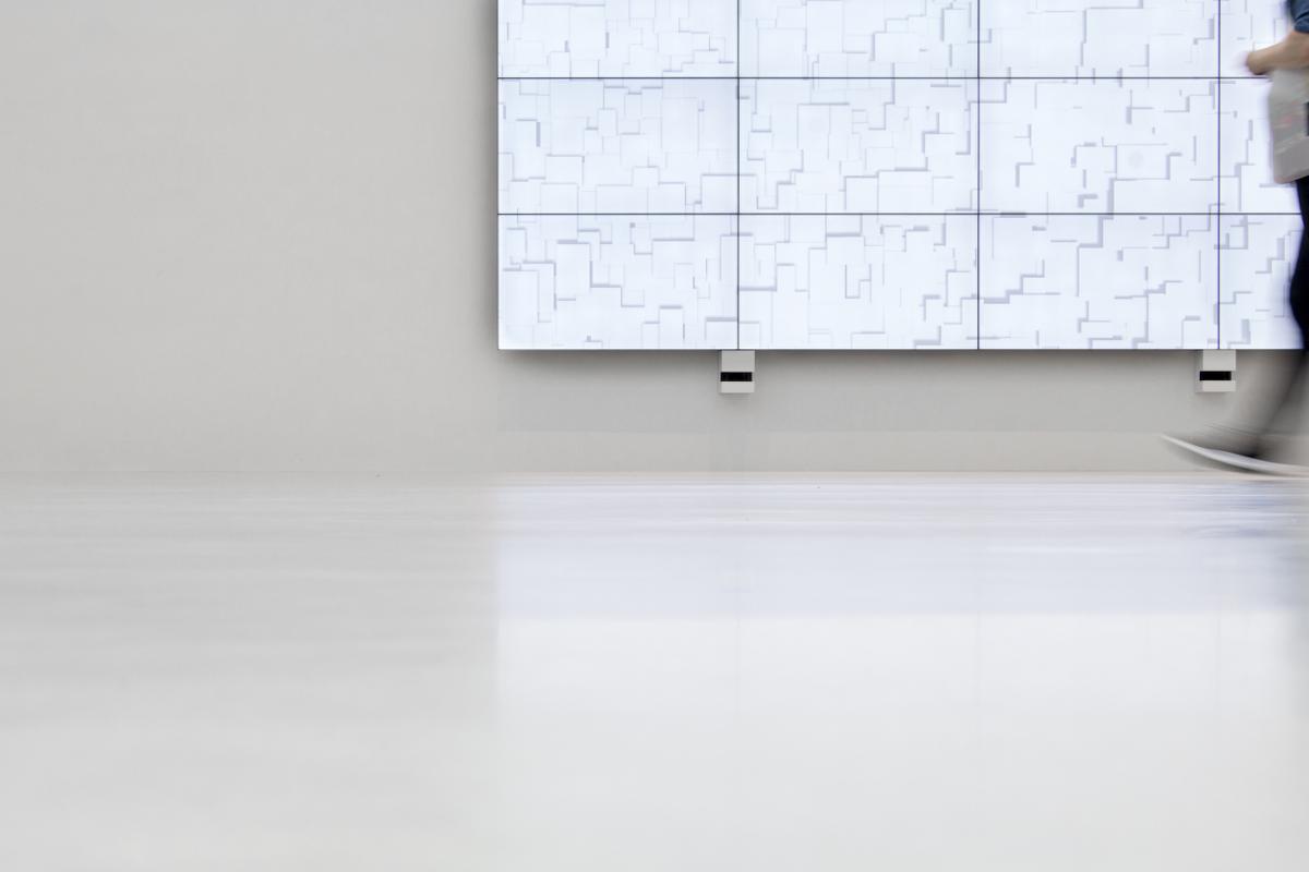 Media Wall in neuer Kunsthalle Mannheim Eröffnung Museum Ausstellungen